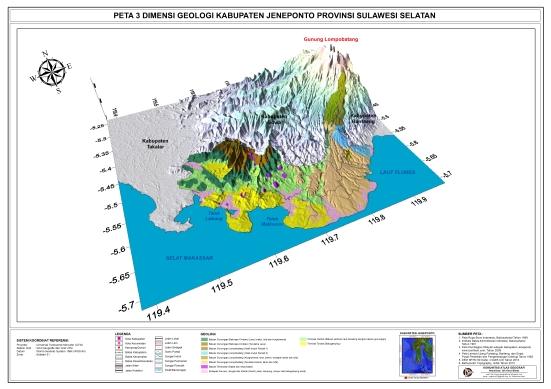 Geologi Jeneponto 3d